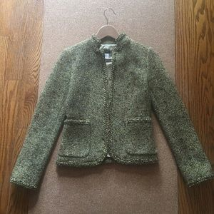 J. Crew Green Tweed lined Blazer.  💚